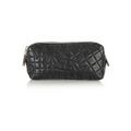 Quilted leather cosmetics case