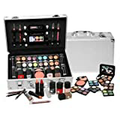 SHANY Cosmetics Carry All Train Case with Makeup and Reusable Aluminum Case, Cameo