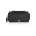 Girlie Stuff patent leather-trimmed cosmetics case