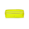 Make Up neon patent leather-trimmed cosmetics case