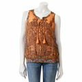 SONOMA life + style Paisley Smocked Tank Top and Camisole Set