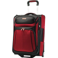 "Samsonite - Aspire Sport 21"" Expandable Upright Suitcase - Brick Red/Black"