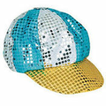 Multicolor Sequin Disco Newsboy Cap 5in