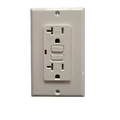 Utilitech 2-Pack 20-Amp White Decorator GFCI Electrical Outlet