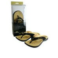 Zori Orthotic Tan Sandals, Size 9