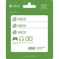 - Xbox LIVE 800 Point Cards (3-Pack)