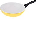"Vinaroz - 12"" Stir-Fry Wok - Yellow"