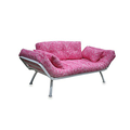 Mali Flex Futon Combo in Small Pink Paisley with White Frame