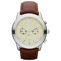Michael Kors Watch, Men's Chronograph Mahogany Leather Strap 45mm MK8292
