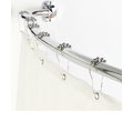 Elegant Home Fashions Elegant 72-in Chrome Zinc Curved Adjustable Shower Rod