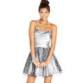Hailey Logan Juniors Dress, Sweetheart-Neck Corset-Back Tulle