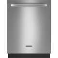 "KitchenAid - 24"" Tall Tub Built-In Dishwasher - Stainless-Steel"