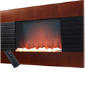 Warm House - Mahogany Trim Electric Fireplace - Mahogany