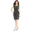 Anne Klein Dress, Sleeveless Tropical-Wool-Blend Sheath