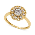 YellOra Diamond Ring, YellOra Diamond Cluster Flower Ring (1/4 ct. t.w.)