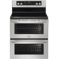 "Frigidaire - 30"" Self-Cleaning Freestanding Double Oven Electric Convection Range - Stainless-Steel"