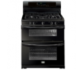 3.5/ 2.3 Cu Ft Oven Capacities, Convection Bake/ Roast (Lower Oven), 17k, 14k, 5k & 2-9.5k Btu Burners, Continuous Cast Iron Grates, Large Visualit...