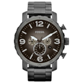 Fossil Watch, Men's Chronograph Nate Smoke Tone Stainless Steel Bracelet 50mm JR1437