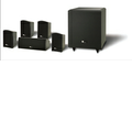 "Pure Acoustics - Lord 5.1-Channel Home Theater Speaker System with 10"" Powered Subwoofer - Black"