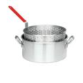 Bayou Classic 10-Quart Aluminum Fry Pot with Basket