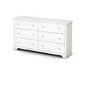 South Shore Furniture Vito Pure White 6-Drawer Dresser