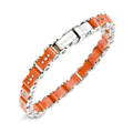 Men's Stainless Steel Bracelet, Small Orange Bicycle Bracelet