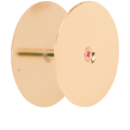 "Prime-Line Hole Cover Plate, 2-5/8"", Brass Plated"