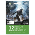 Microsoft - Halo 4: Xbox LIVE 12-Month Gold Membership Card