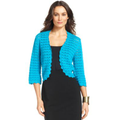 Alfani Sweater, Three-Quarter-Sleeve Crochet Cardigan