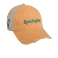 One Size Fits Most Men's Orange and Khaki Cotton Baseball Cap