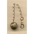 Round Gold Watch Fob On Chain