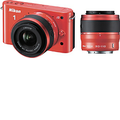 Nikon - J2 10.1-Megapixel Digital Compact System Camera with 10-30mm and 30-110mm Lenses - Orange