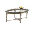 Magnussen Home Galloway Brushed Pewter (Metal) Oval Coffee Table