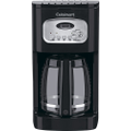 Cuisinart - 12-Cup Programmable Coffeemaker - Black/Stainless-Steel