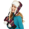 Roxy Hat, Heirloom Earflap with Faux Fur