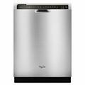"Whirlpool 24"" Stainless Steel Dishwasher"