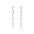 Belk & Co. Sterling Silver Freshwater Pearl Three Pearl Dangle Earring