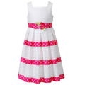 Bloome Kids Dress, Girls Plus Size Eyelet Ribbon Dress