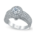 My Diamond Story Ring, 18k White Gold Certified 3-Row Diamond Engagement Ring (2 ct. t.w.)