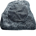 Russound - Single-Point Stereo Outdoor Rock Loudspeaker (Each) - Gray Granite