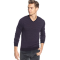 Calvin Klein Sweaters, Merino Striped V Neck Sweater