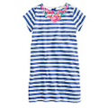 Girls' stripe necklace dress