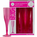Bright Pink Premium Plastic Wine Glasses 18ct