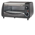 Magic Chef - 4-Slice Toaster Oven - Black/Stainless-Steel