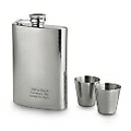 Textured Flask with Shot Glasses