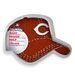 Fan Cake MLB Silicone Cake Pan in Cincinnati Reds