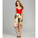 GB Tropical-Print Hi-Low Dress