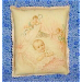 Victorian Decorative Art Print Pillow Sachet: Baby Girl Angels