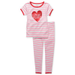 Carter's Kids Pajamas, Little Girls 2-Piece Striped Love Pajama Set