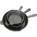 3PC CST IRON SKILLET SET